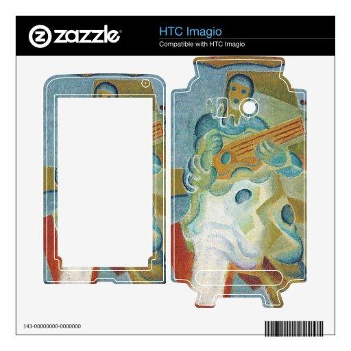 Juan Gris - Pierrot que tocan la guitarra Skins Para HTC Imagio
