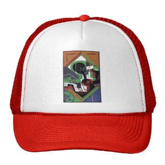 Juan Gris- Pipe and Fruit Dish with Grapes Mesh Hats