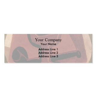 Juan Gris- Pipe and Glass Business Card