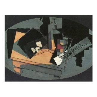Juan Gris - Playing cards and siphon