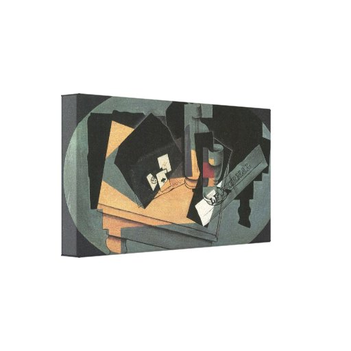 Juan Gris - Playing cards and siphon Stretched Canvas Prints