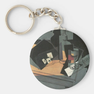 Juan Gris - Playing cards and siphon Key Chains