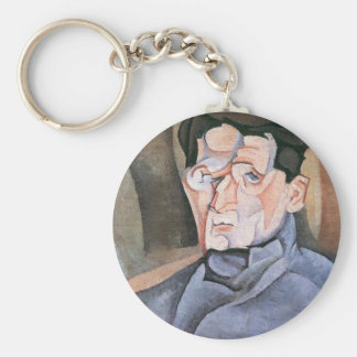 Juan Gris - Portrait Maurice Raynal Key Chains