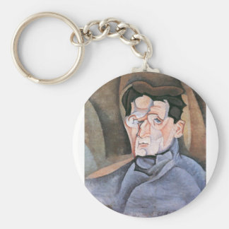 Juan Gris - Portrait Maurice Raynal Keychains