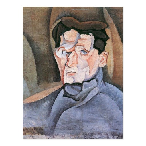 Juan Gris - Portrait Maurice Raynal Postcard