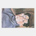 Juan Gris - Portrait Maurice Raynal Rectangular Sticker