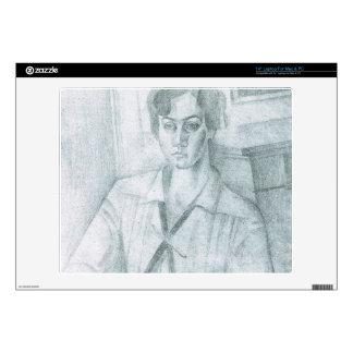 Juan Gris - Portrait of Madame Hiudobro Laptop Decal