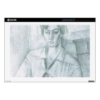 Juan Gris - Portrait of Madame Hiudobro Laptop Decals