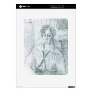 Juan Gris - Portrait of Madame Hiudobro Decals For iPad