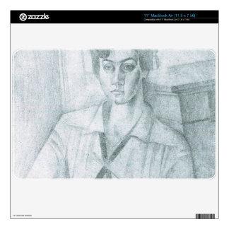 Juan Gris - Portrait of Madame Hiudobro Skins For MacBook