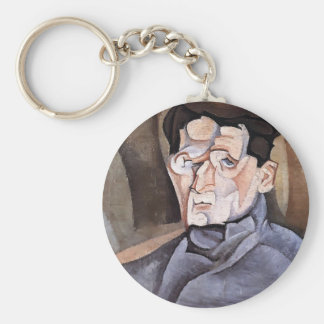 Juan Gris- Portrait of Maurice Raynal Key Chain