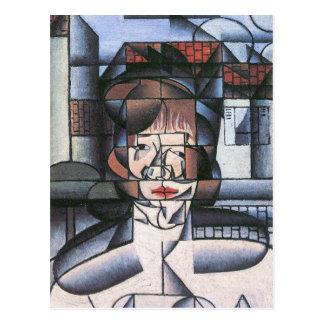 Juan Gris - retrato de señora Germana Raynal Postal