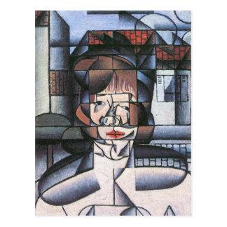 Juan Gris - retrato de señora Germana Raynal Postales
