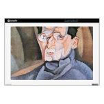 Juan Gris - retrato Mauricio Raynal Calcomanía Para 43,2cm Portátil
