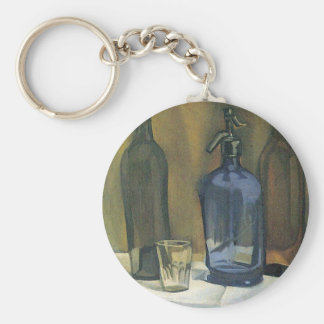 Juan Gris - Siphon and bottles Keychain