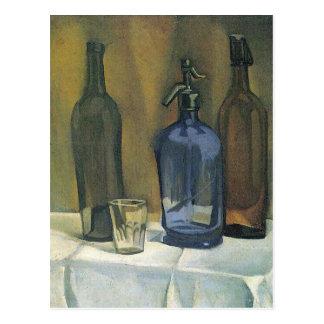 Juan Gris - Siphon and bottles Postcard
