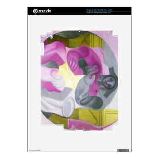 Juan Gris - Sitting Harlequan Decals For The iPad 2