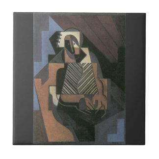 Juan Gris - Sitting peasant woman Ceramic Tile