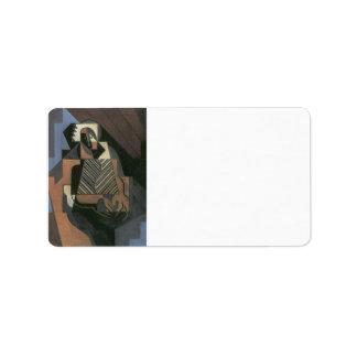 Juan Gris - Sitting peasant woman Label