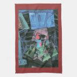 Juan Gris - Still life and urban landscape Hand Towel