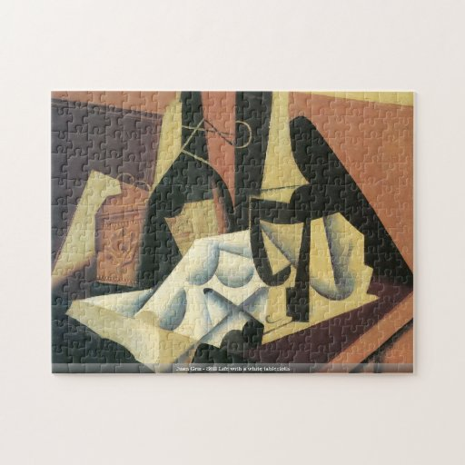 Juan Gris - Still Life with a white tablecloth puz Puzzle