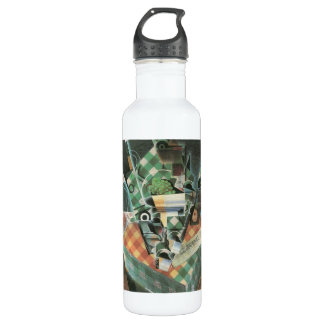 Juan Gris - Still Life with checked tablecloth Stainless Steel Water Bottle