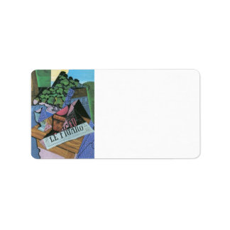 Juan Gris - Still Life with geraniums Label