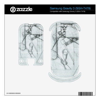 Juan Gris - Still Life with glass and board game Samsung Gravity 3 Decal