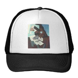 Juan Gris - Still Life with guitar book and newspa Trucker Hat