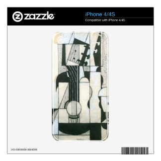 Juan Gris - Still Life with guitar Decal For iPhone 4