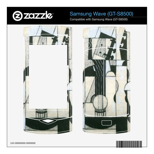 Juan Gris - Still Life with guitar Decals For Samsung Wave