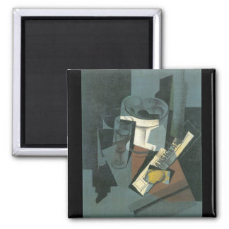Juan Gris - Still Life with Newspaper 2 Inch Square Magnet