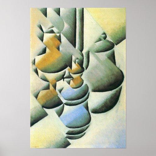 Juan Gris - Still Life with oil lamp Poster