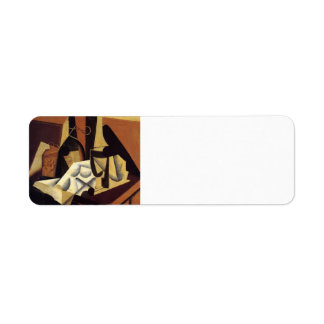 Juan Gris- Still Life with White Tablecloth Return Address Labels