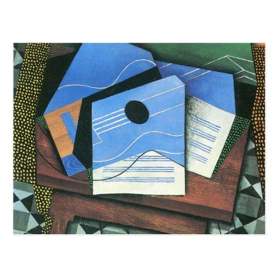 Juan Gris - Table with Guitar Postcard