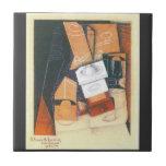 Juan Gris - taza y vidrio de la amoladora de café  Tejas