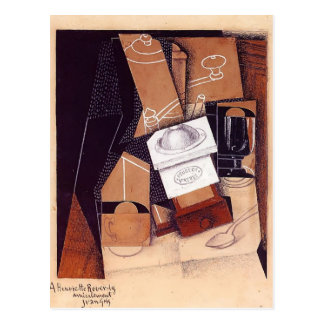 Juan Gris- The Coffee Grinder Postcard