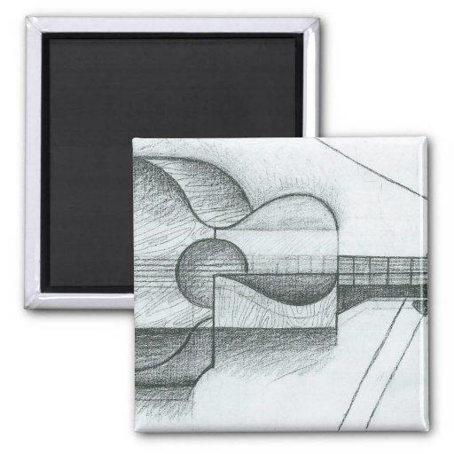 Juan Gris - The Guitar Refrigerator Magnet