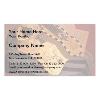 Juan Gris- The Guitar with Inlay Business Card Template