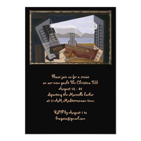 Juan Gris The Open Window Card
