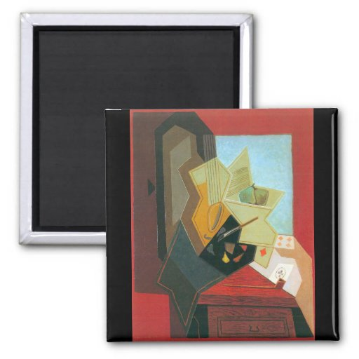 Juan Gris - The window of the painter Magnet
