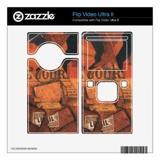 Juan Gris - Tobacco newspaper and wine bottle Flip Video Ultra II Decal