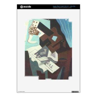 Juan Gris - todavía vida con el libro y el newspa Pegatina Skin Para iPad 3