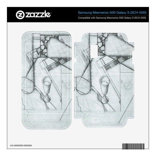 Juan Gris - todavía vida con el vidrio y el juego  Samsung Mesmerize Calcomanías