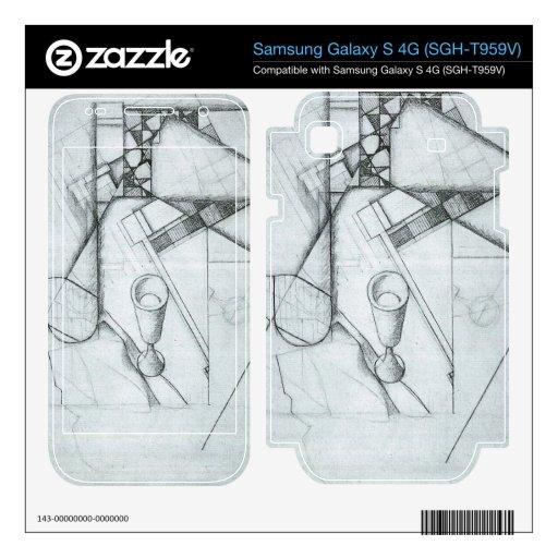 Juan Gris - todavía vida con el vidrio y el juego  Samsung Galaxy S 4G Skin