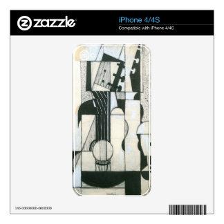 Juan Gris - todavía vida con la guitarra Calcomanía Para El iPhone 4