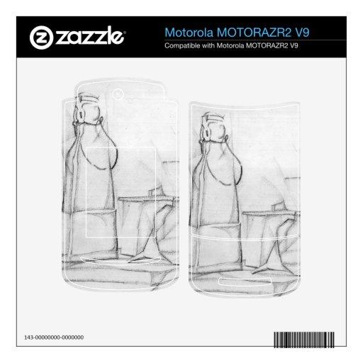 Juan Gris - todavía vida con las botellas y los em MOTORAZR2 V9 Skins