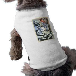Juan Gris - todavía vida con las flores Playera Sin Mangas Para Perro