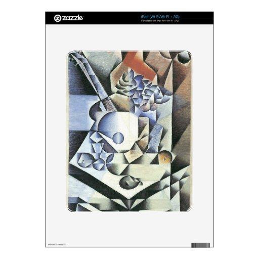 Juan Gris - todavía vida con las flores Calcomanías Para iPad