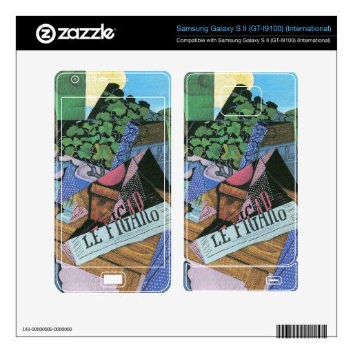 Juan Gris - todavía vida con los geranios Samsung Galaxy S II Calcomanía